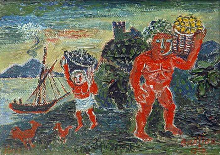 Давид Давидович Бурлюк. Мифологический сюжет с красными фигурам