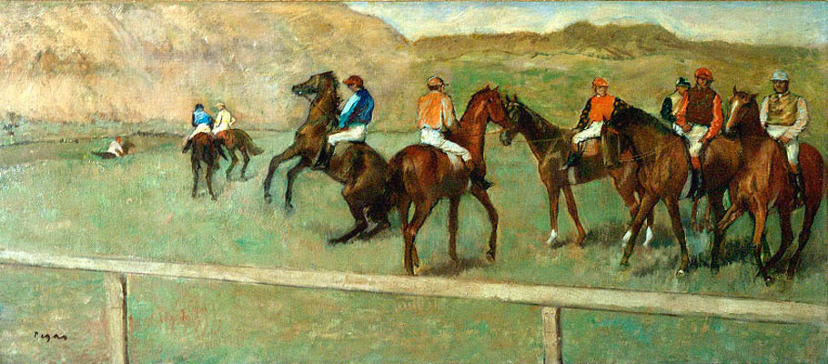 Edgar Degas. Before the start