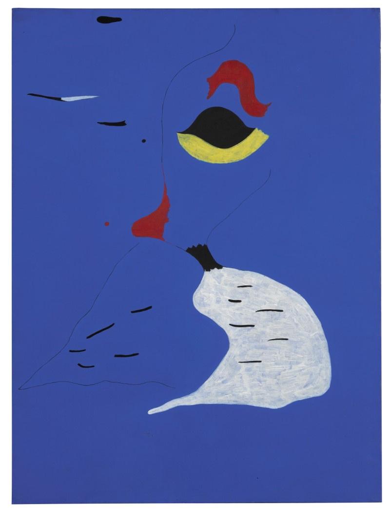 Joan (Joan) Miro. Peinture (Femme au Chapeau Rouge)