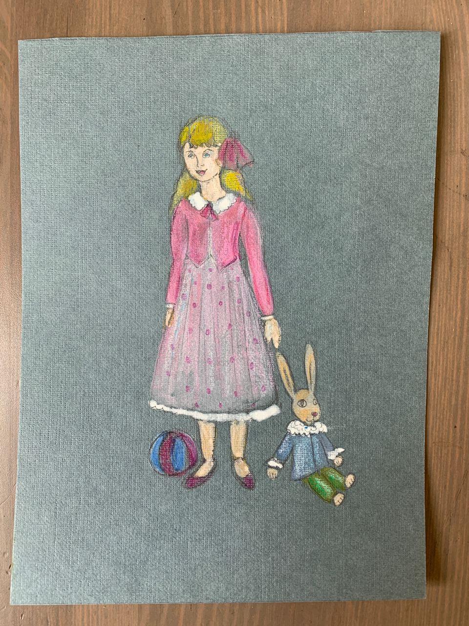 Lemberg Helen. Girl with a Rabbit