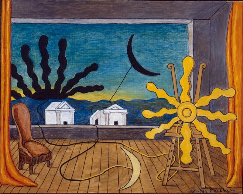 Джорджо де Кирико. Солнце на подставке
