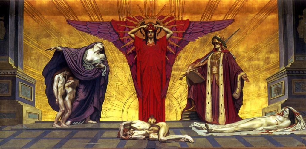 Жан Дельвиль. Идеальное Правосудие: Правосудие, Закон и Милосердие (восстановлена после Второй мировой войны)