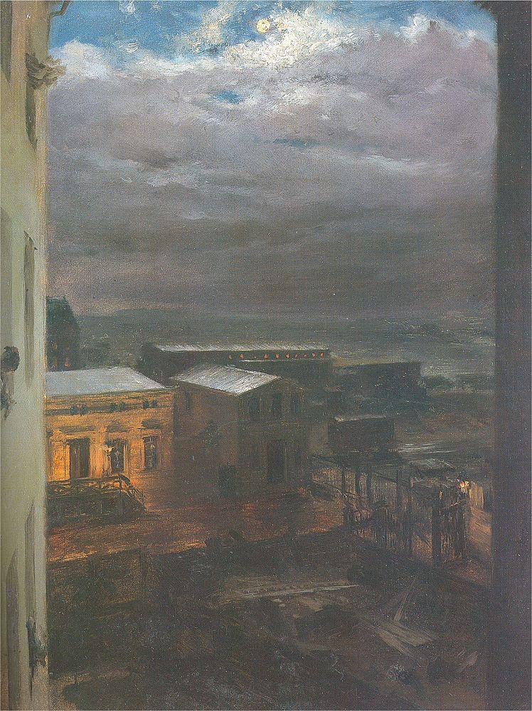 Адольф фон Менцель. Туман