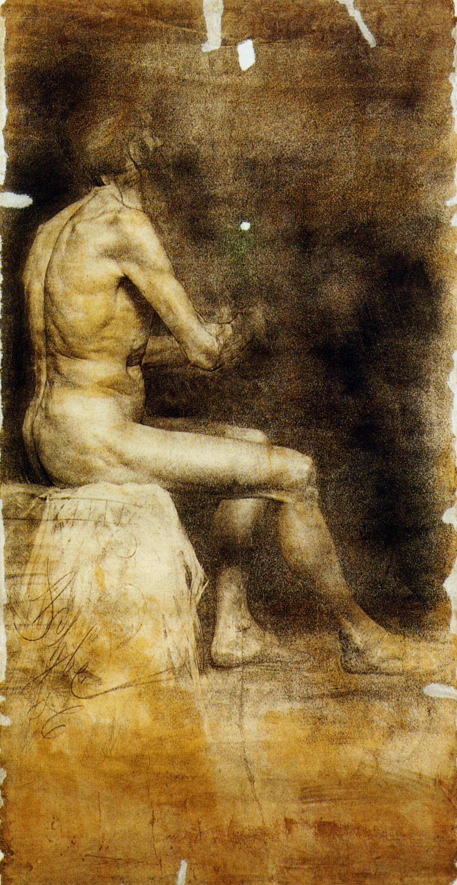 Anton Azhbe. Sitting Nude