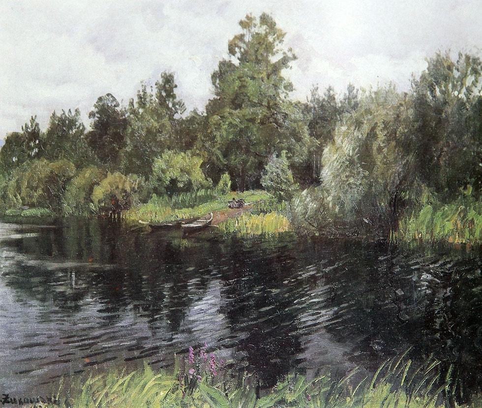 Stanislav Yulianovich Zhukovsky. River in Polesie