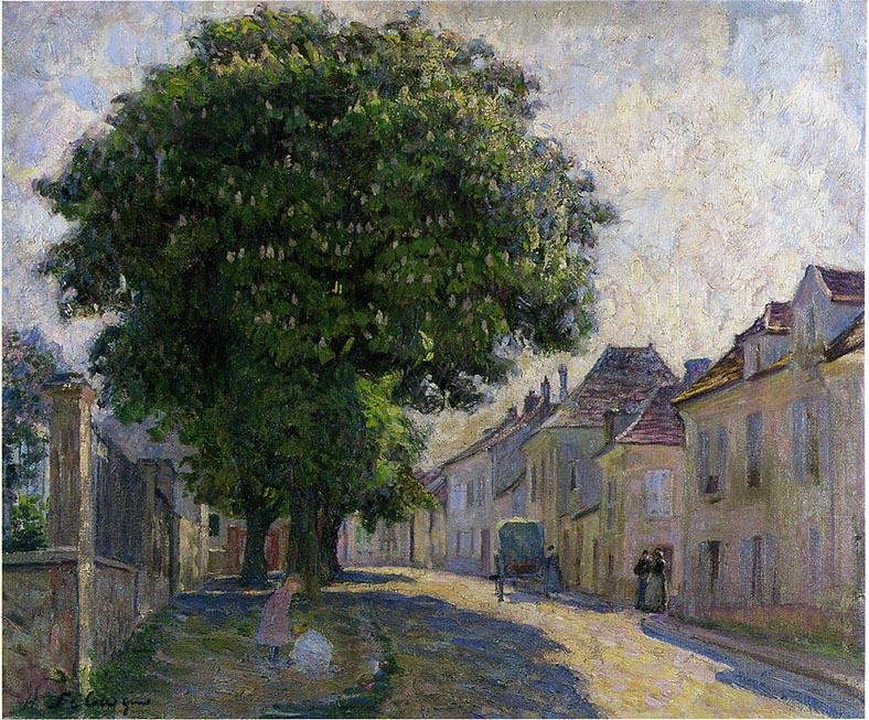 Анри Лебаск. Улица в деревне