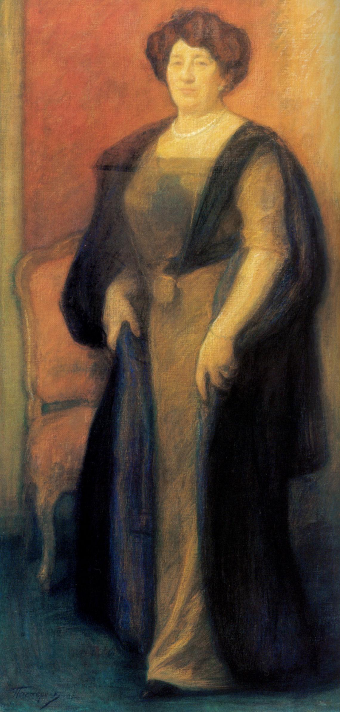 Leonid Pasternak. Portrait Of Anna Borisovna Vysotskaya