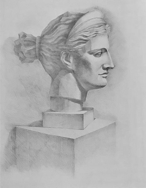 Gypsum head  Profile  by Larissa Lukaneva: History, Analysis & Facts