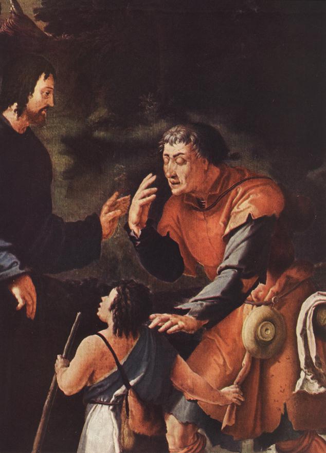 Лукас ван Лейден (Лука Лейденский). Христос исцеление слепого