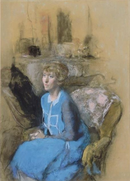 Jean Edouard Vuillard. Woman in blue