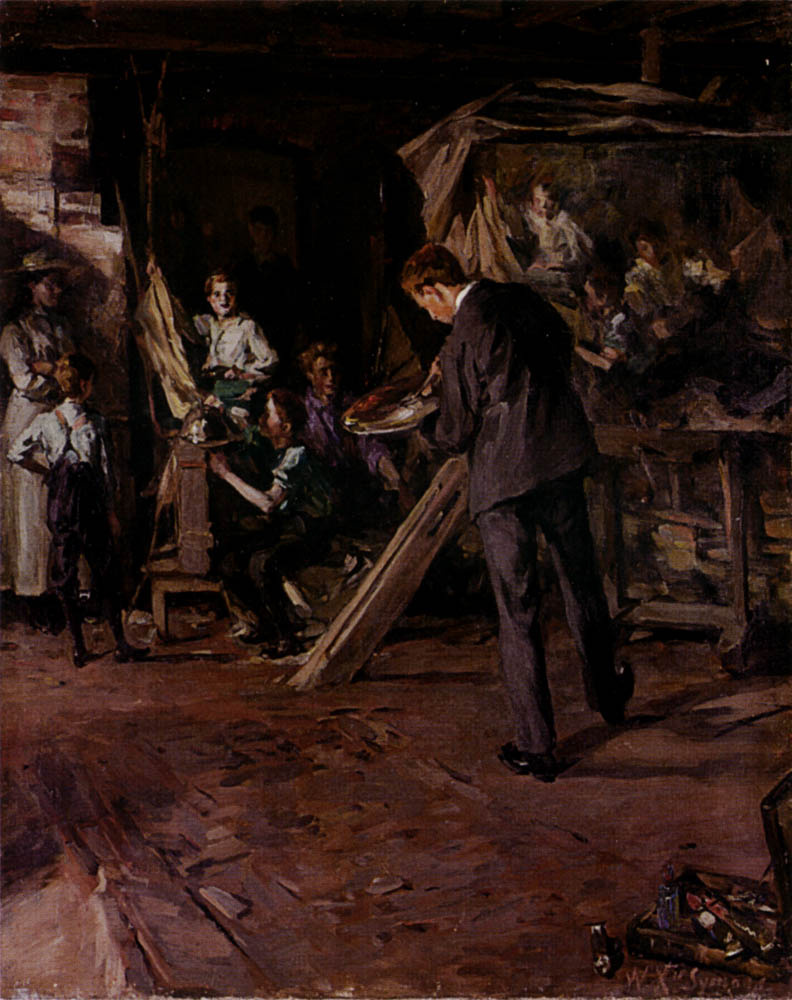 William Christian Simons. The artist's Studio