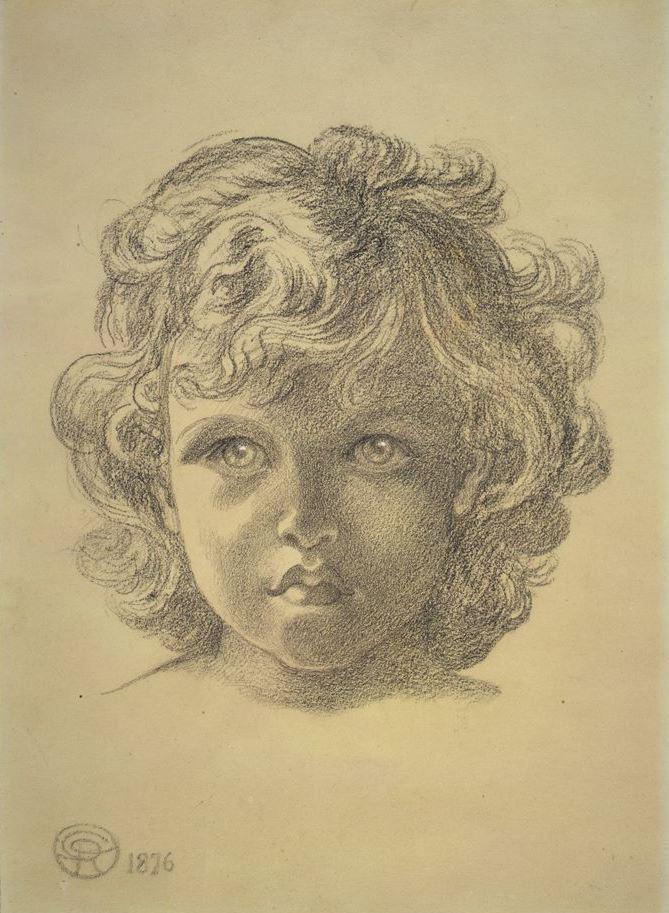Данте Габриэль Россетти. Портрет Уилфреда Роберта Джона Хоутри в возрасте 18 месяцев (Эскиз для «Блаженного Дамозеля»)