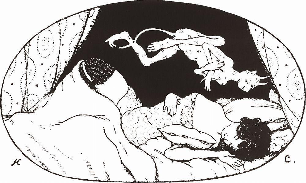 Константин Андреевич Сомов. Спящая дама с чертиком