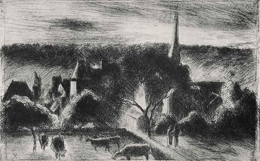 Камиль Писсарро. Церковь и поместье в Эраньи