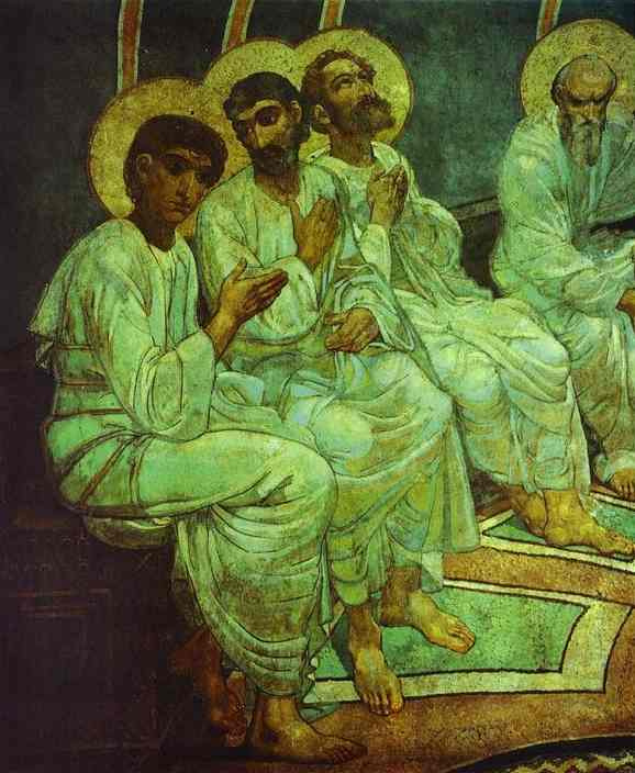Mikhail Vrubel. The descent of the Holy spirit on the apostles (Pentecost). Fragment
