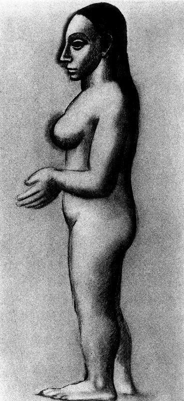 Пабло Пикассо. Профиль обнаженной женщины