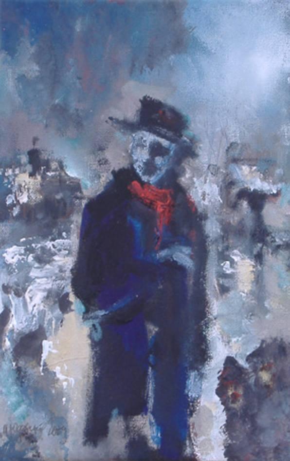 """Michael Yudovsky. """"Winter sketch""""."""