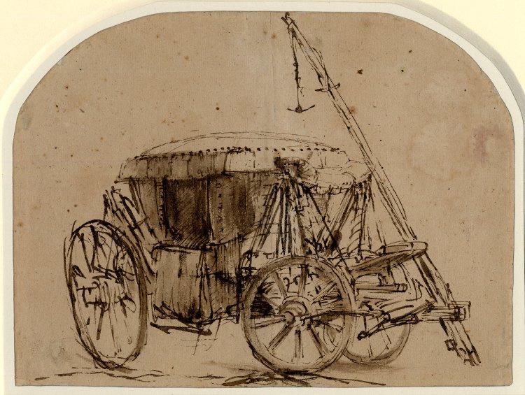 Rembrandt Harmenszoon van Rijn. A coach
