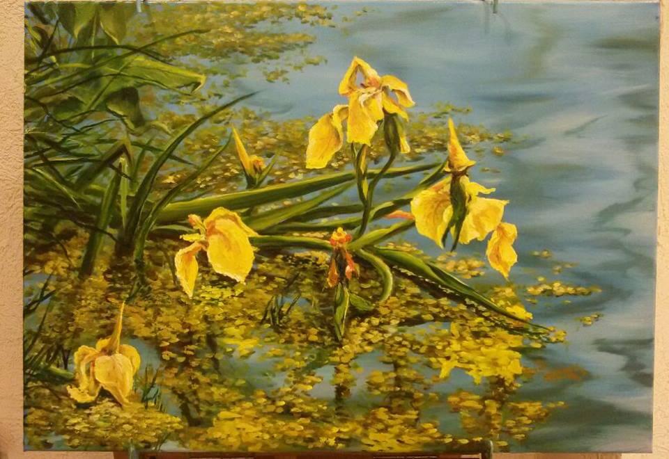 Lyudmila Alexandrovna Rossamakhina. Irises