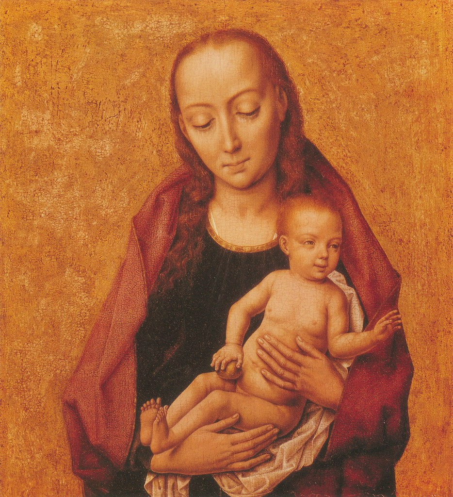 Дирк Баутс. Мадонна с младенцем. ок.1455-1460