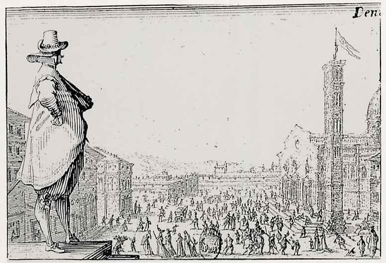 Жак Калло. Площадь перед кафедральным собором