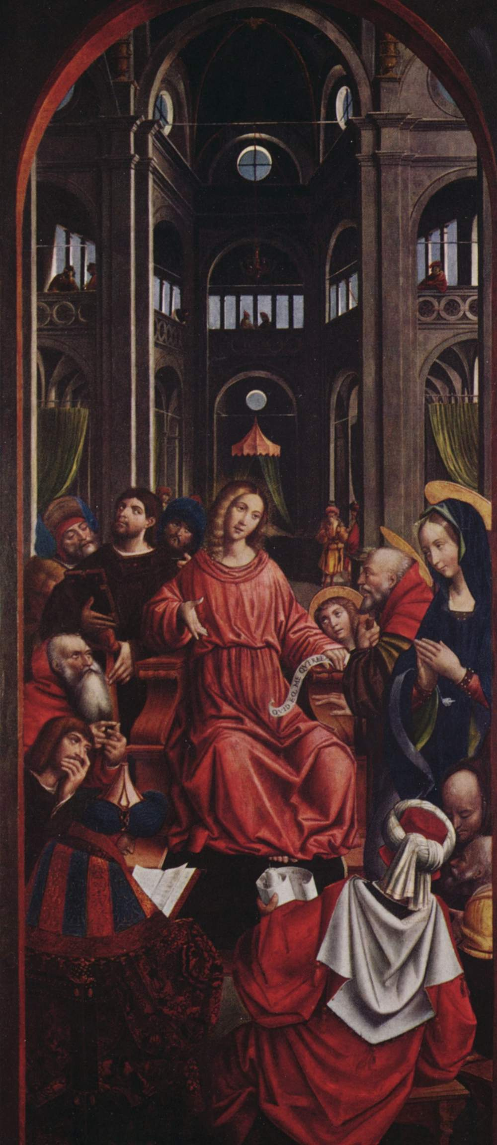 Defendent Ferrari. Twelve year old Christ in the temple