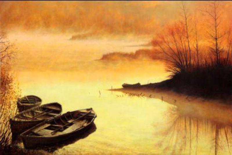 Valentin Revelioti. Fog over the lake