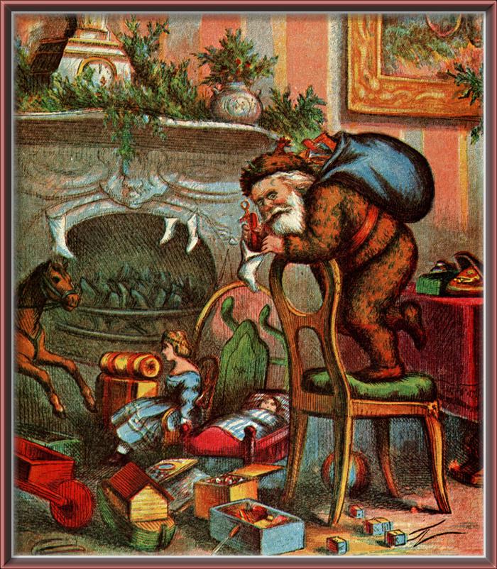 Thomas Nast. 72 Santa at work