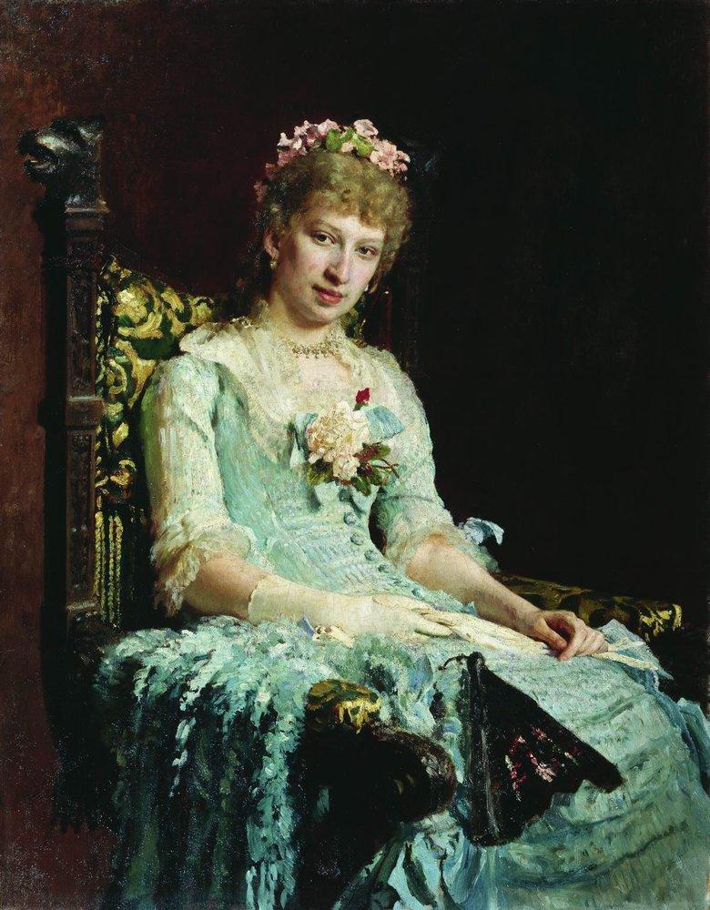 Илья Ефимович Репин. Женский портрет (Е.Д. Боткина?)