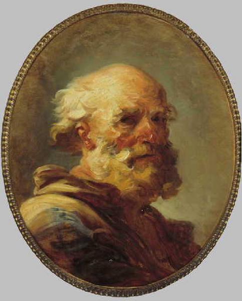 Jean Honore Fragonard. Portrait of an old man