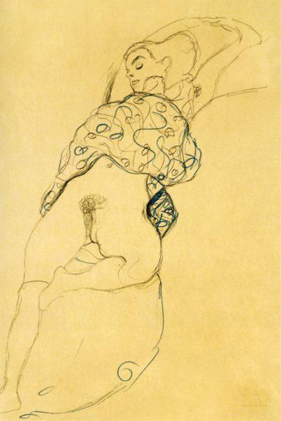 Густав Климт. Спящая обнаженная