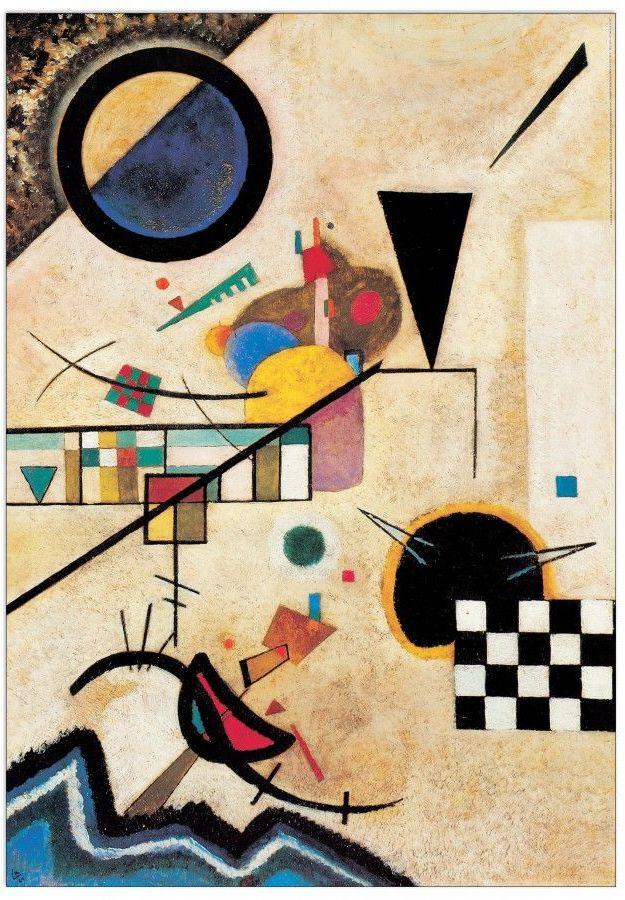 Wassily Kandinsky. Contrasting sounds