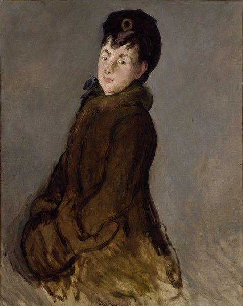 Edouard Manet. Portrait of Isabelle Lemonnier with Muff