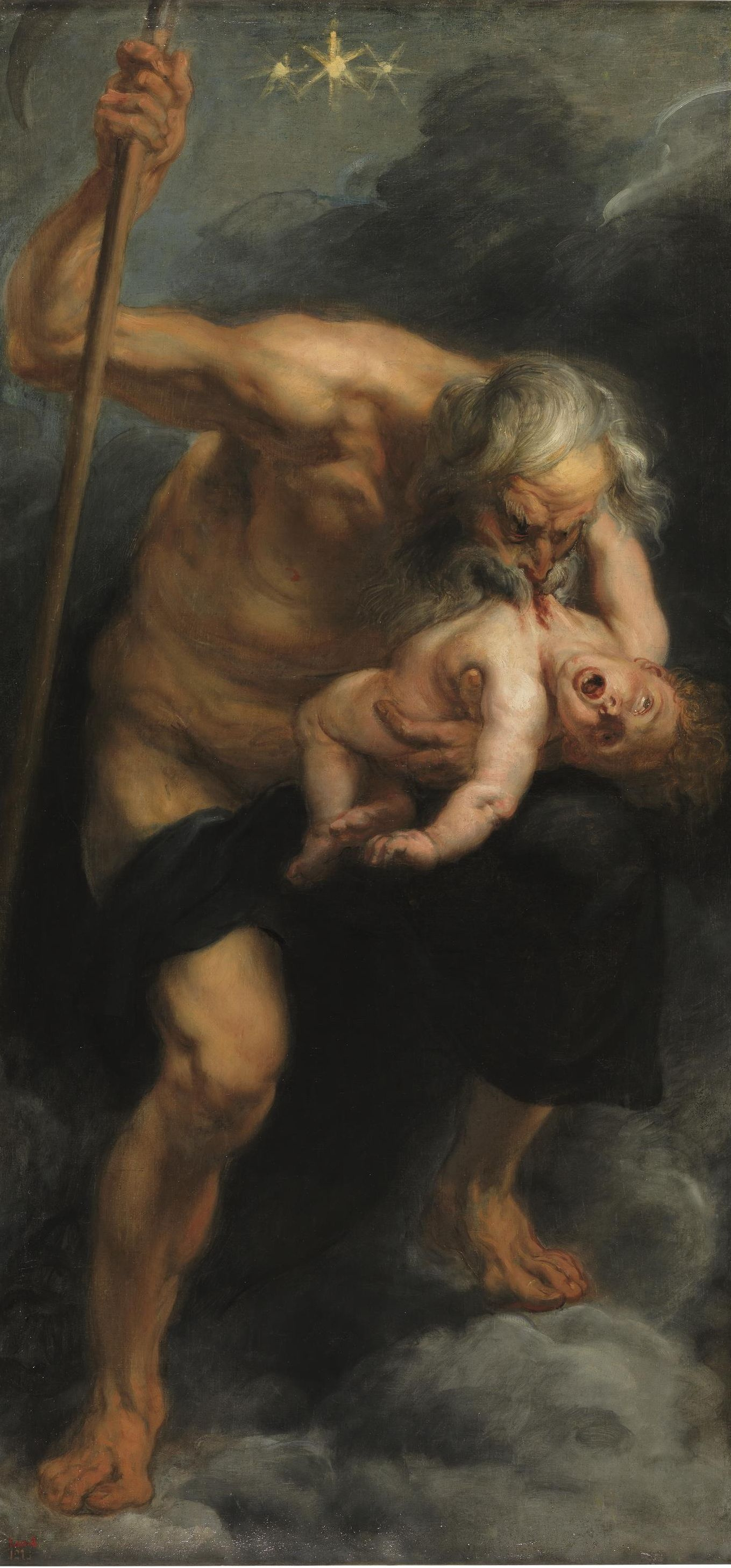 Peter Paul Rubens. Saturn devouring his son