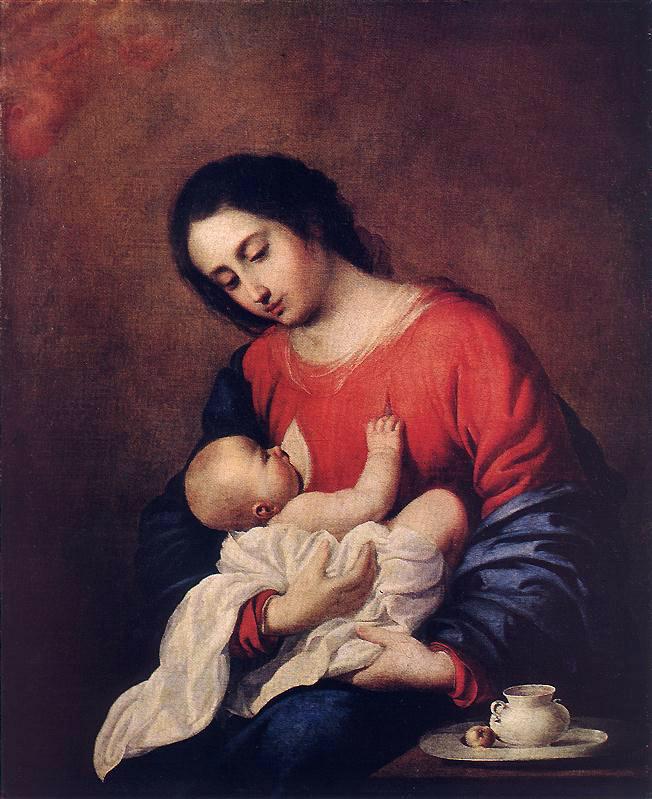 Франсиско де Сурбаран. Мадонна с младенцем