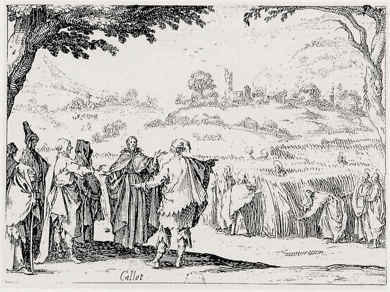 Жак Калло. Иисус у фарисеев