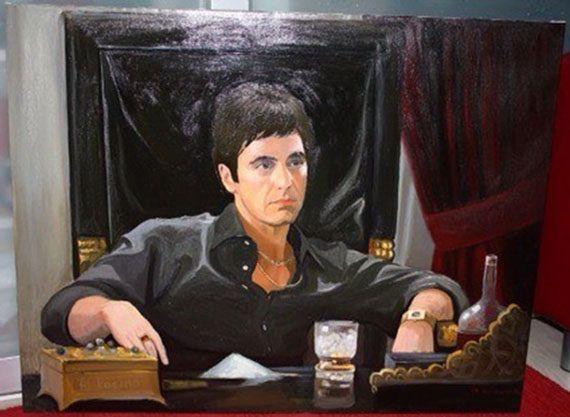 Daria Bragina. Portrait of Tony Montano,white death,