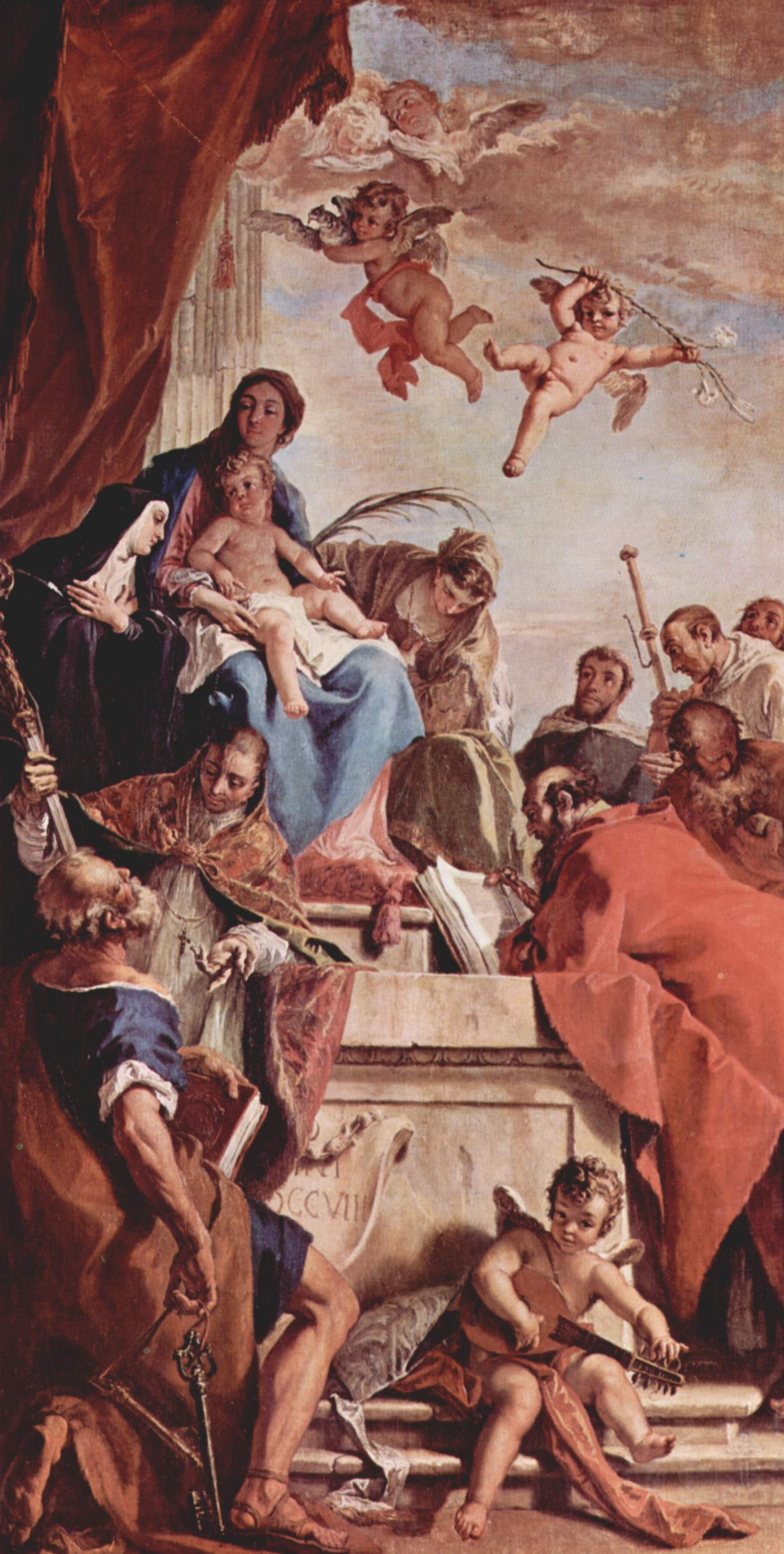 Sebastiano Ricci. The altar of St. Gerhard from Canada. Madonna with the saints, left: STS. Peter, Gerhard, Scholastica, Catherine Of Alexandria, Benedict, And