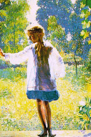 Даниэль Гарбер. Девочка в лучах солнца