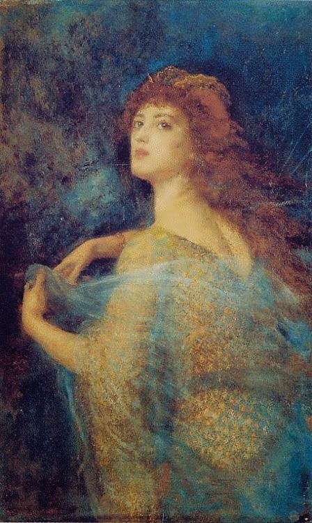 Arthur Hughes. Enchantress