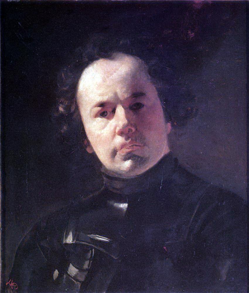 Карл Павлович Брюллов. Портрет художника Яненко в латах
