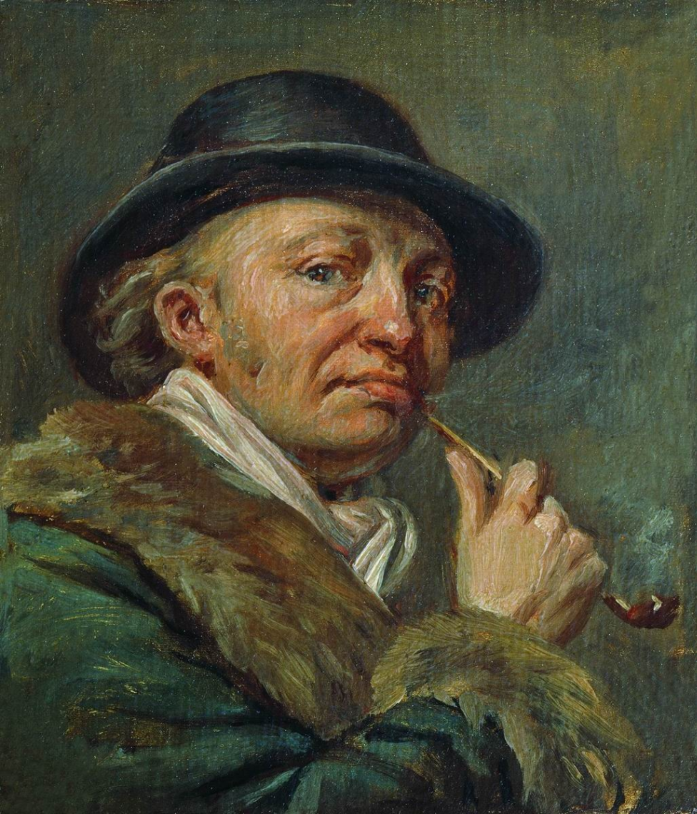 Alexander Grigorievich Varnek. Self-portrait (in old age). State Tretyakov Gallery, Moscow
