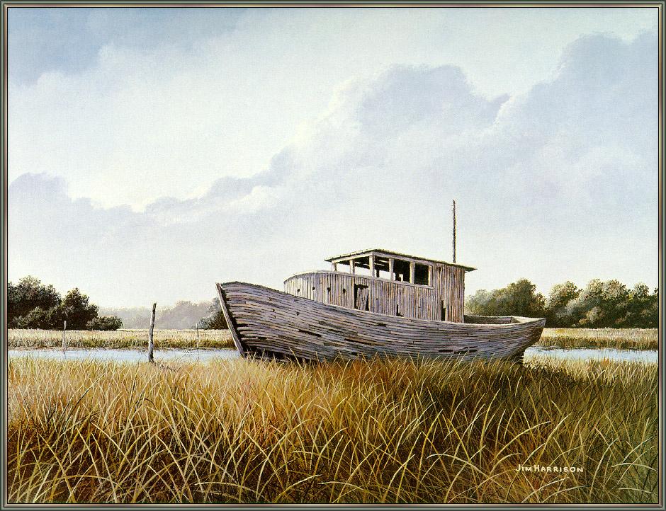 Кервуд Харрисон. Заброшенная лодка