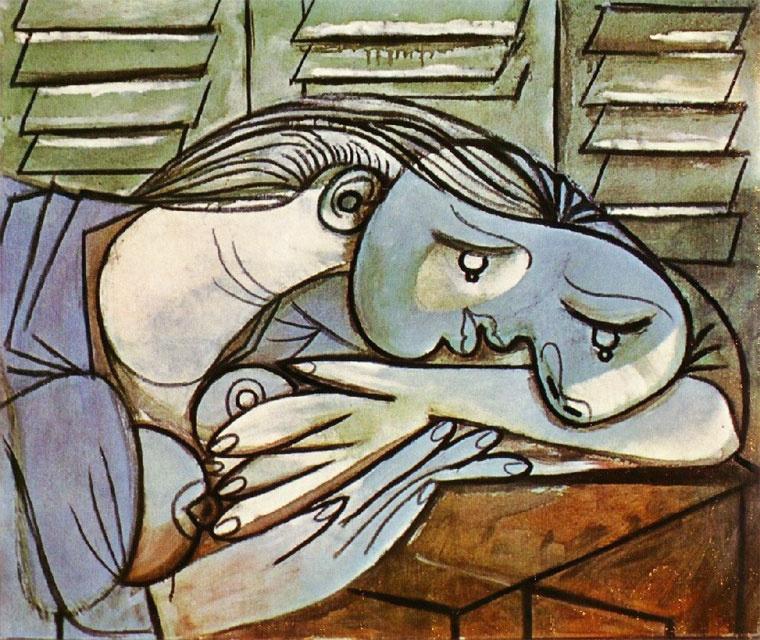 Пабло Пикассо. Спящая на фоне жалюзи