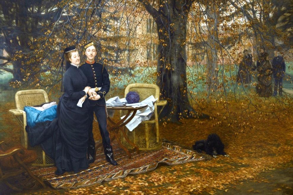 Джеймс Тиссо. Императрица Евгения и наследный принц в парке Камден