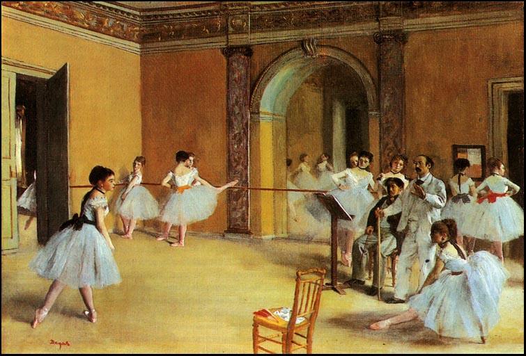 Эдгар Дега. Урок танца