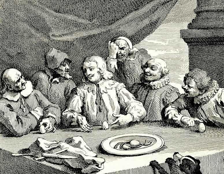 Уильям Хогарт. Колумб разбивает яйцо