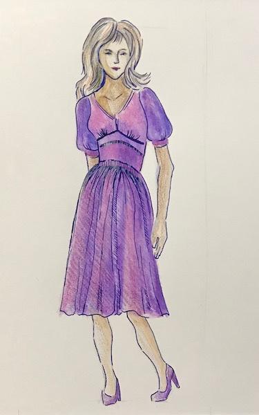 Larissa Lukaneva. Fashion sketch