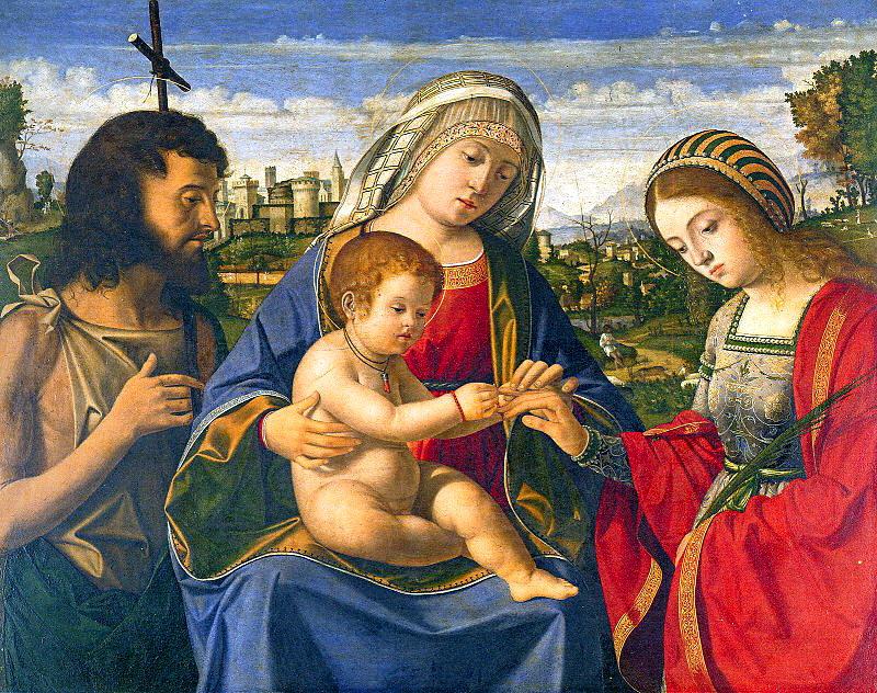 Андреа Превитали. Мадонна, младенец и святые