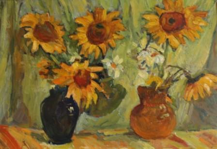 Alevtina Nikolaevna Bezukladnikova. Sunflowers